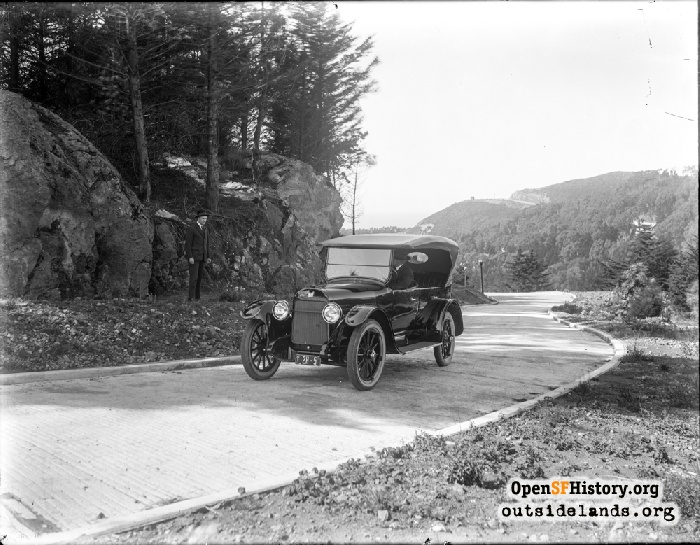 Car on Edgehill Drive, 1921.