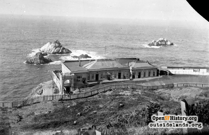 Cliff House from Sutro Heights, circa 1890.
