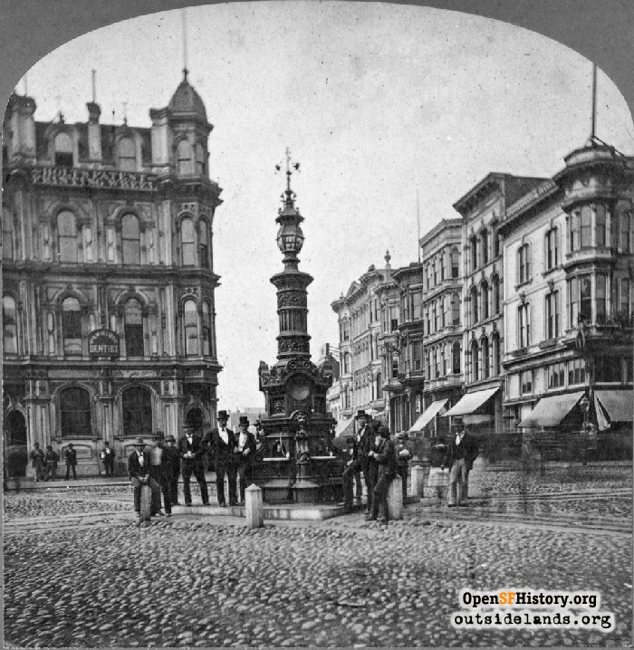 Lotta's Fountain, circa 1880.
