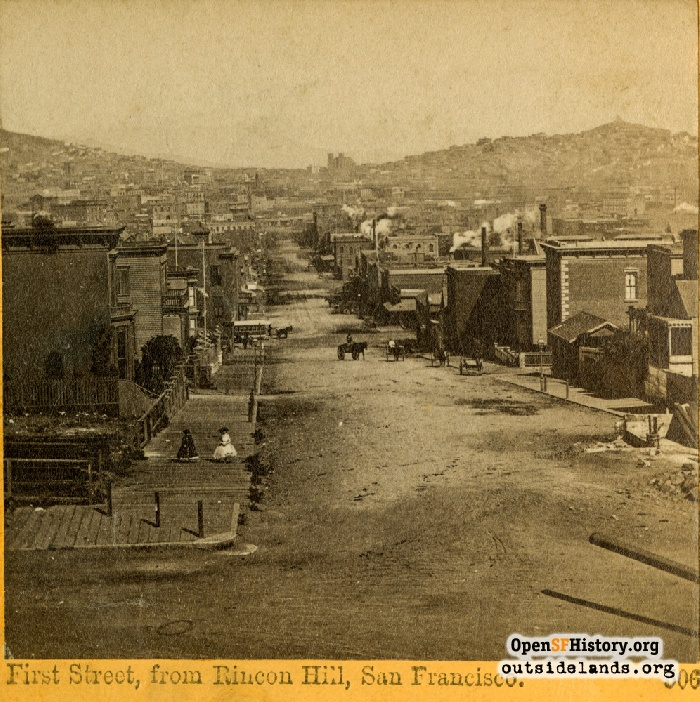 1st and Harrison Streets, 1860s.