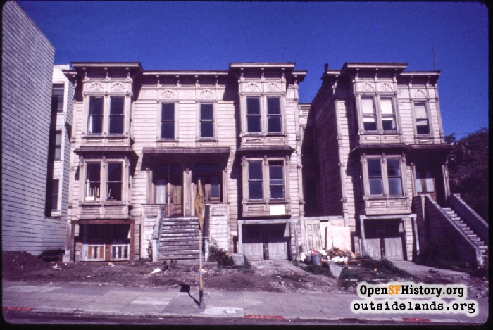 4160-4168 17th St in disrepair and vacant awaiting rehabilitation.