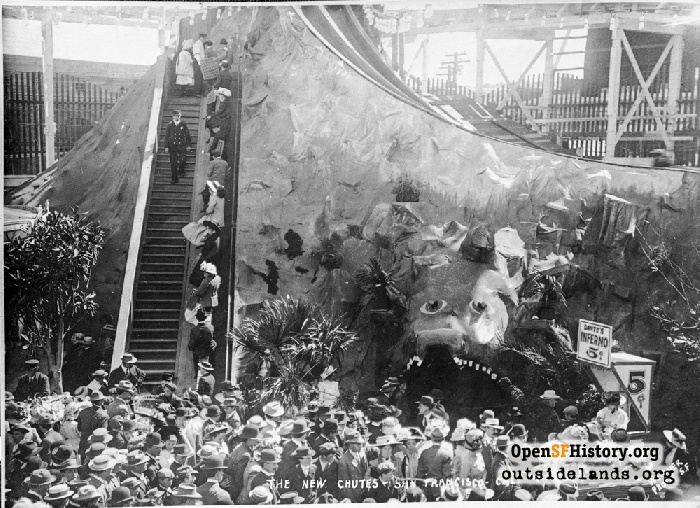 Dante's Inferno and Devil's Slide at Fillmore Chutes, July 1909.