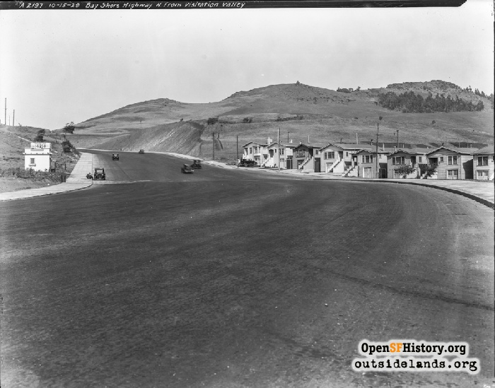 Bayshore Highway near Tunnel Road, October 15, 1929.