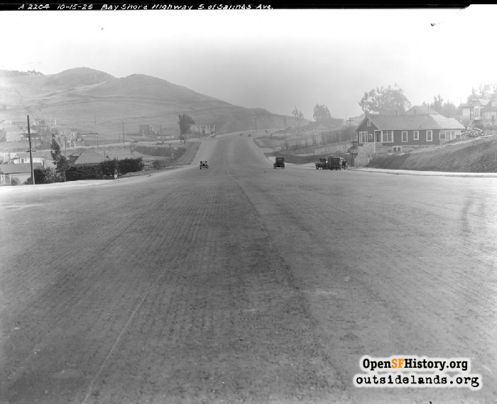 Bayshore Highway just south of Salinas Avenue, October 15, 1929.