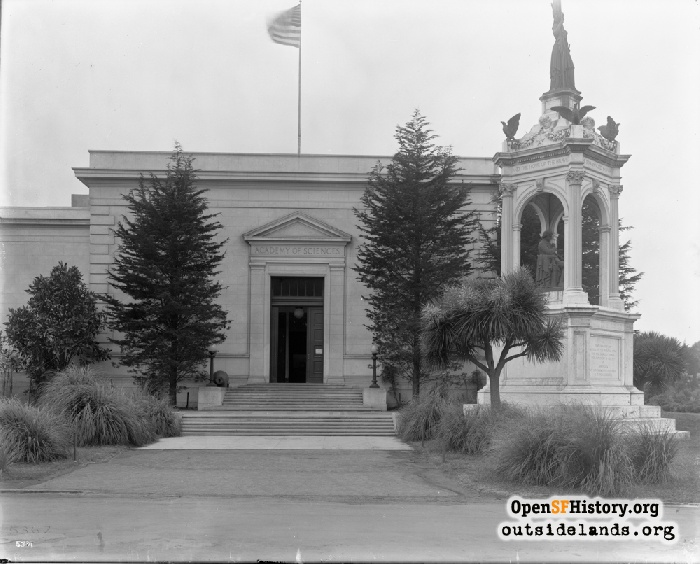 Academy of Sciences and Francis Scott Key Monument, circa 1920.