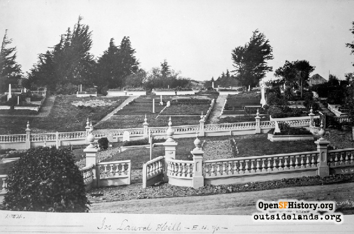 Odd Fellows Cemetery, circa 1885.