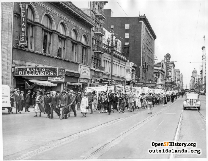 May Day parade at Market and 7th Street, 1936.