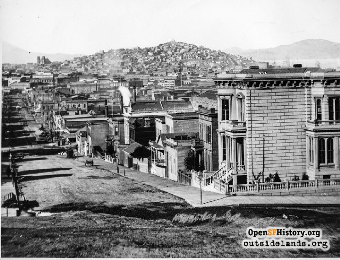 2nd and Folsom Streets, 1860s.