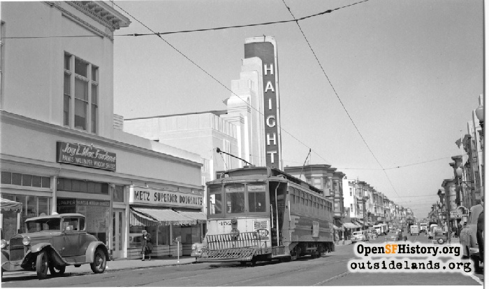 Haight Street at Cole Street, 1948