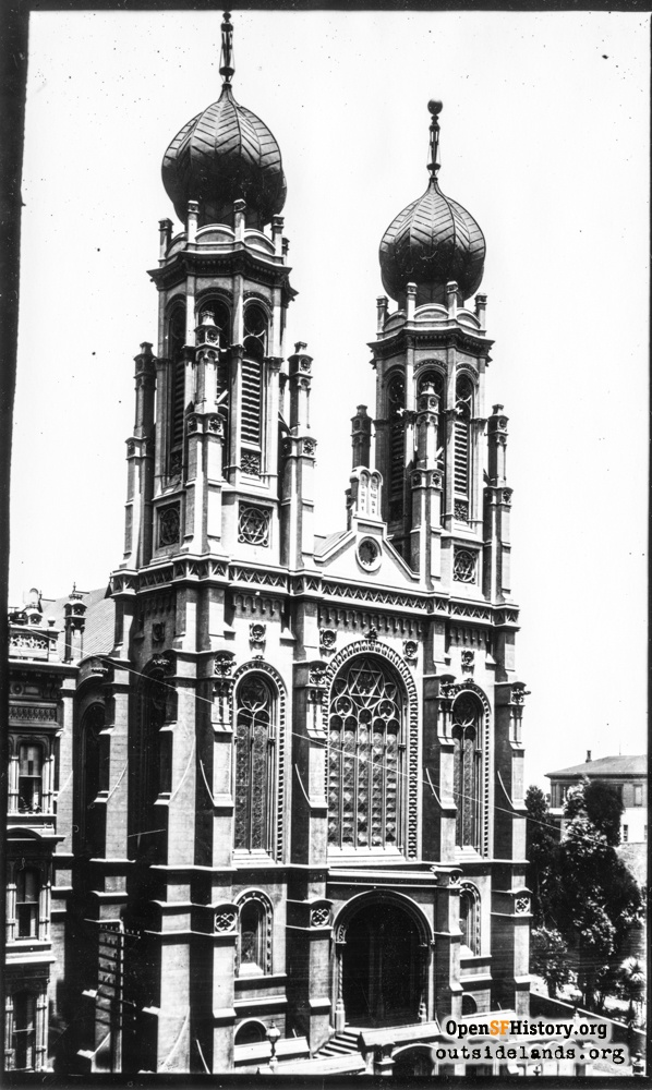Temple Emanu-El on Sutter Street, circa 1890.