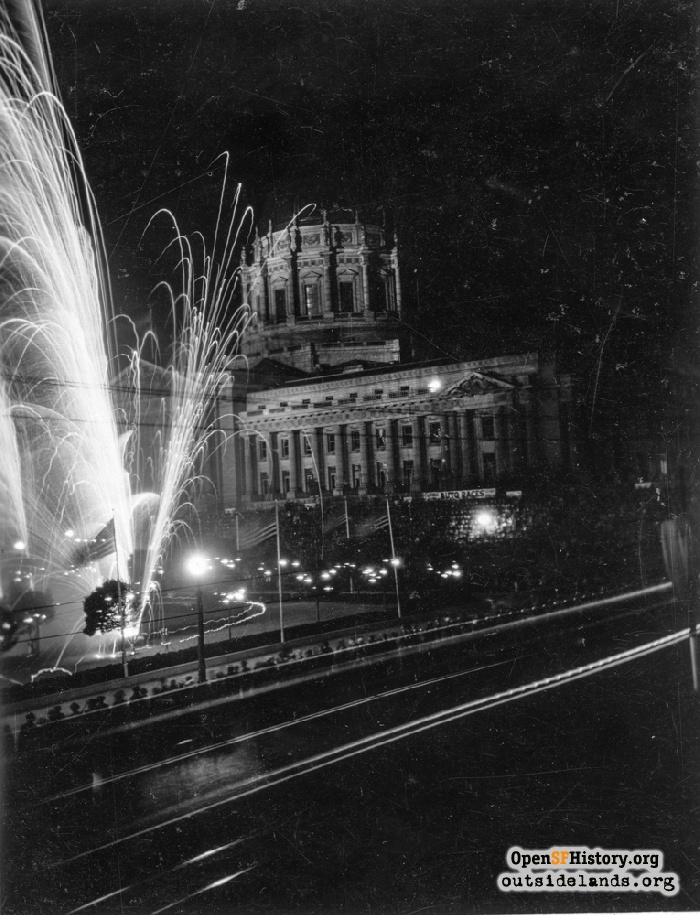 Diamond Jubilee fireworks, September 9, 1925.