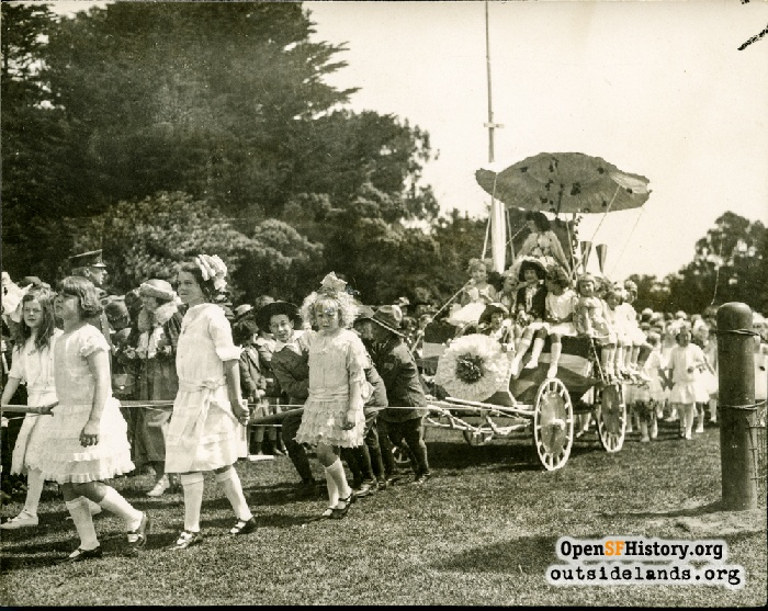 May Day parade in Golden Gate Park, 1920s.