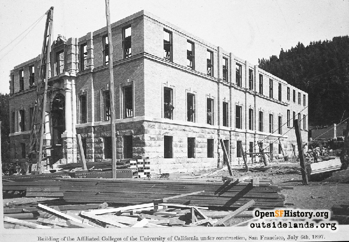 Affiliated Colleges building under construction, July 6, 1897.