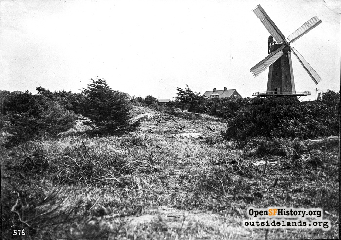 Murphy Windmill and keeper's house, June 21, 1912.