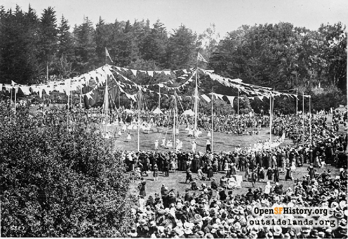 May Day festivities in Golden Gate Park, May 1, 1918.