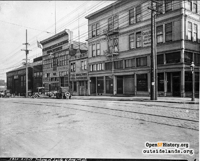 Folsom Street from First Street, February 17, 1919.