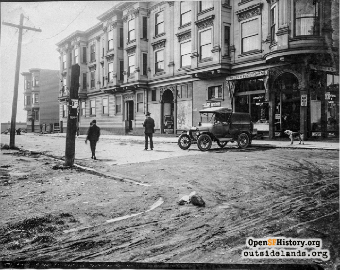 Rincon Street from Harrison Street, April 4, 1919.