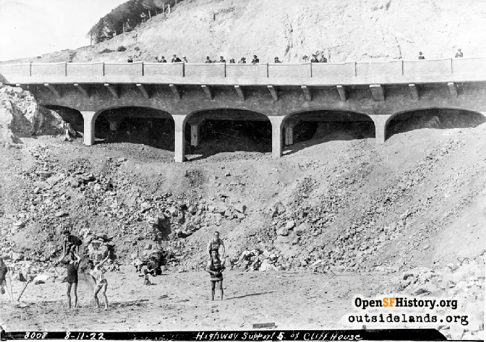Completed viaduct portion of Point Lobos Road, August 11, 1922.