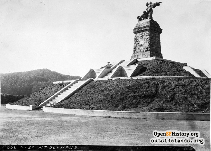 Triumph of Light statue on Mt. Olympus, November 1, 1927.