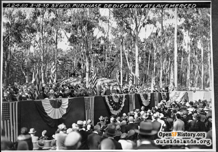 City purchase of Spring Valley Water Company dedication ceremony, March 10, 1930.