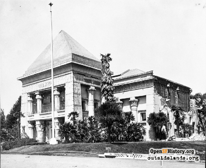 Earthquake damage to Memorial Museum, 1906.