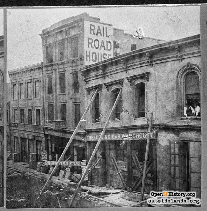 1868 Earthquake damage on Commercial Street.