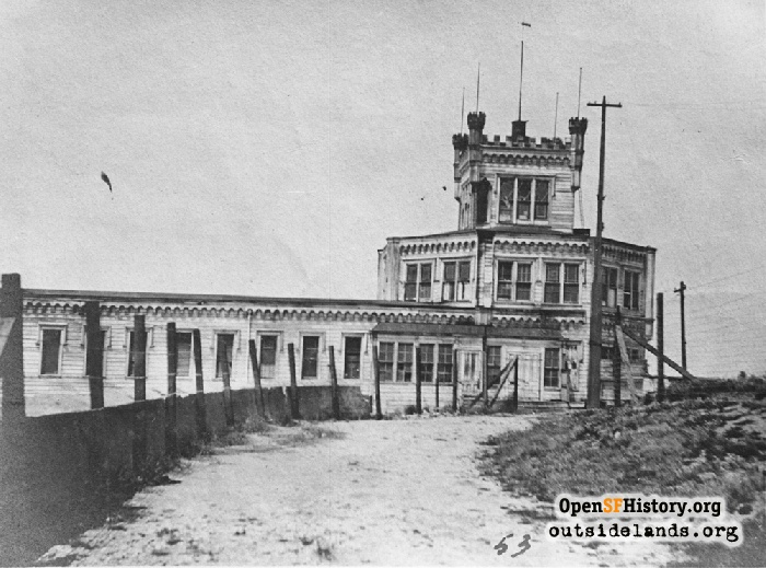 Layman's Folly in disrepair, circa 1902.