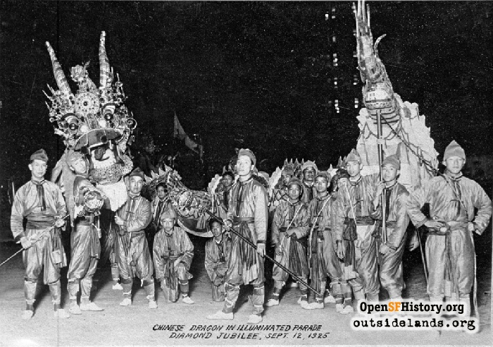 Chinese Dragon in Illuminated Diamond Jubilee Parade, September 12, 1925.