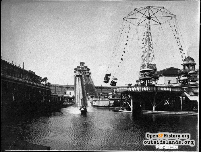 Fulton Chutes and Circle Swing, circa 1905.