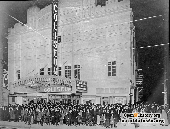 Coliseum Theatre opening night, November 22, 1918.