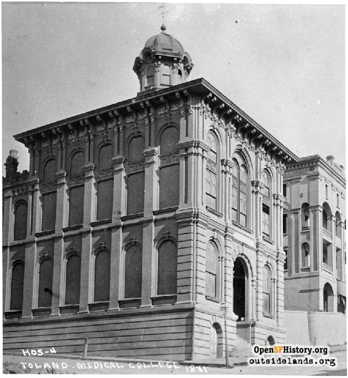 Toland Medical College building, 1871.