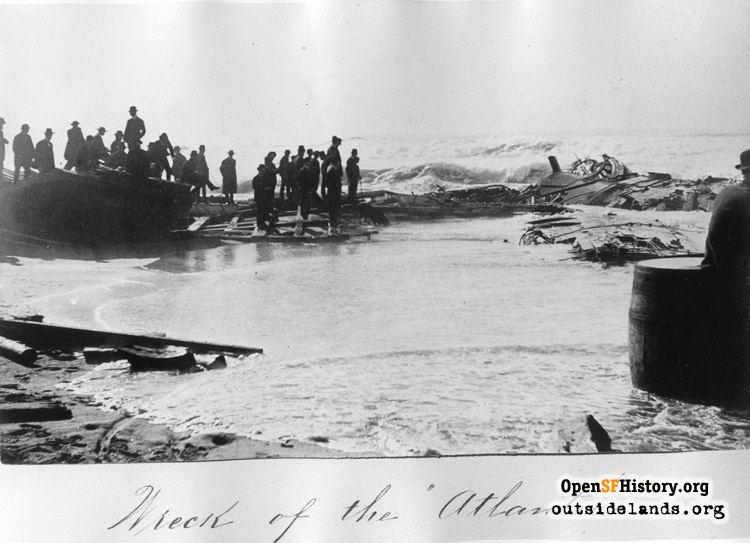 Wreck of whaler Atlantic