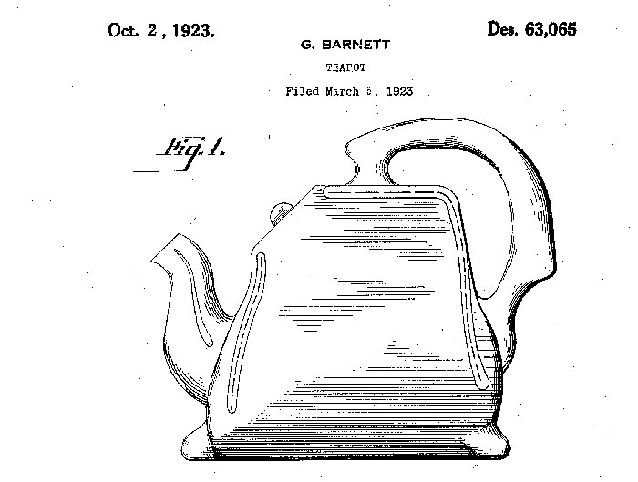 Barnett's handbag tea pot patent.