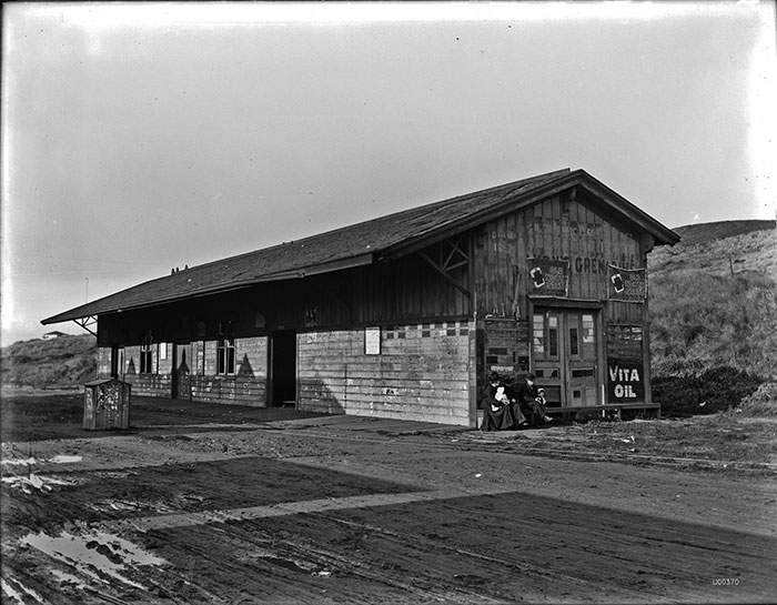 Old 48th Avenue Station on Ferries and Cliff Line, February 23, 1905. (U00370A, Courtesy of SFMTA Photography Department & Archive.)